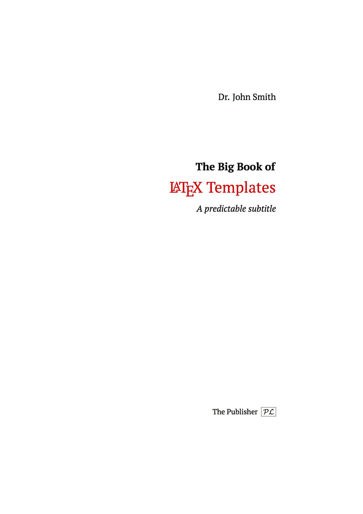 Latex Templates » Title Pages with regard to Report Front Page Template
