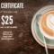 Latte Restaurant Gift Certificate Template | Free Branding Regarding Restaurant Gift Certificate Template