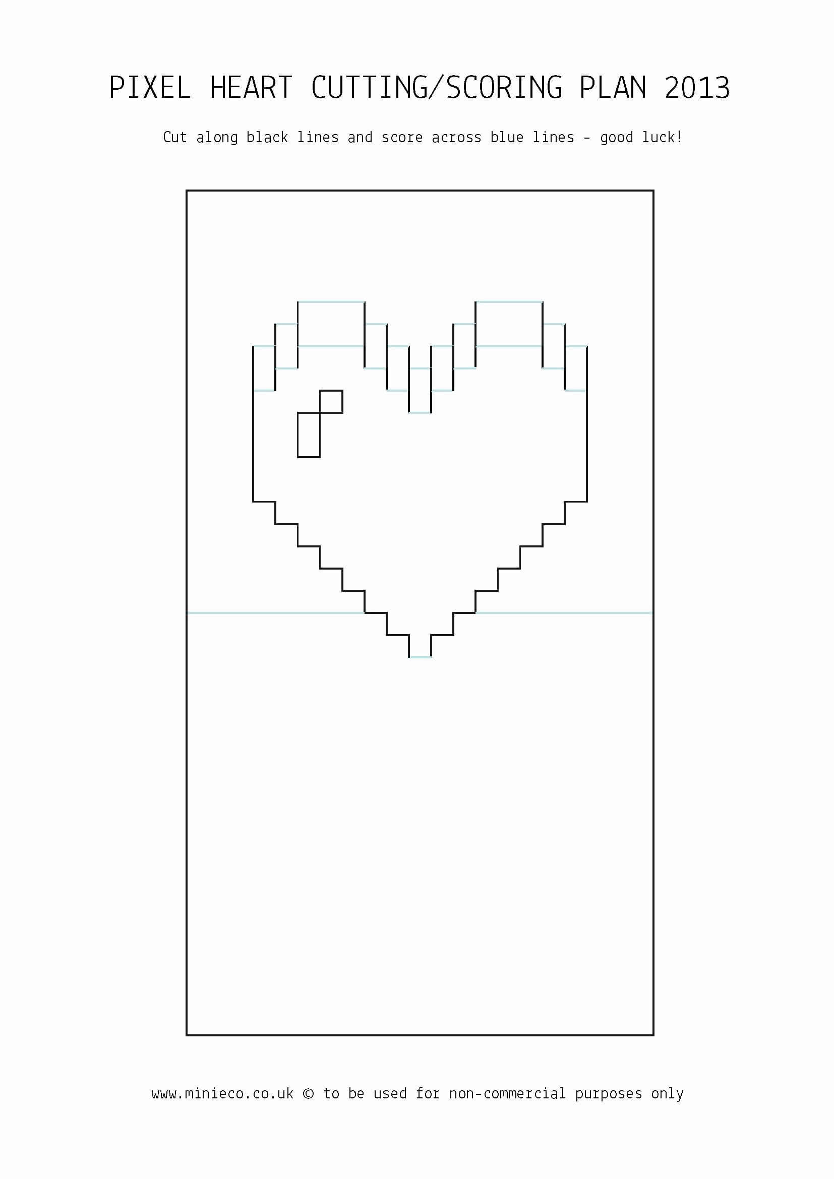 Laura Volpes Free Pop Up Box Card Template Pertaining To Pixel Heart Pop Up Card Template