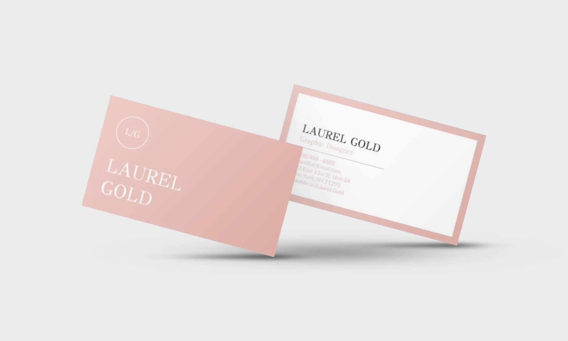 Laurel Gold Google Docs Business Card Template - Stand Out Shop With Business Card Template For Google Docs