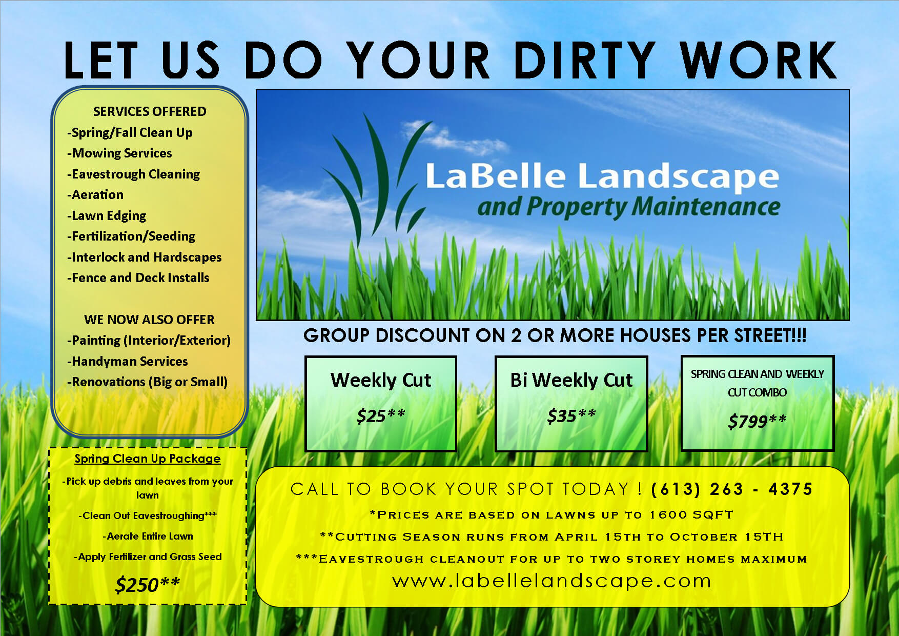 Lawn Care Flyer Free Template | Lawn Care Business, Lawn intended for Lawn Care Business Cards Templates Free