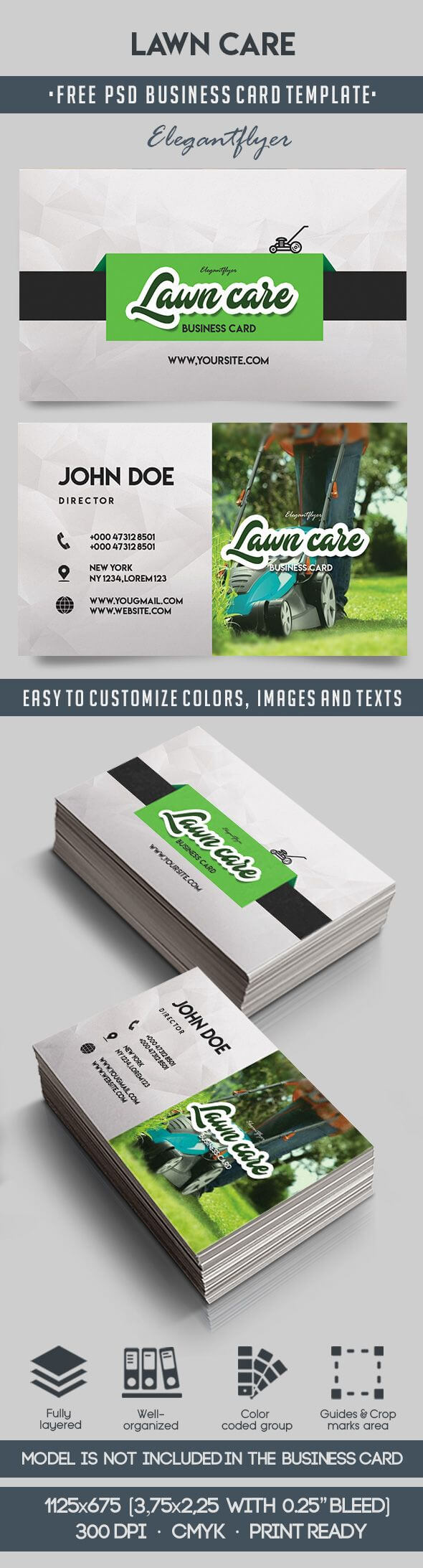 Lawn Care – Free Business Card Templates Psd For Lawn Care Business Cards Templates Free