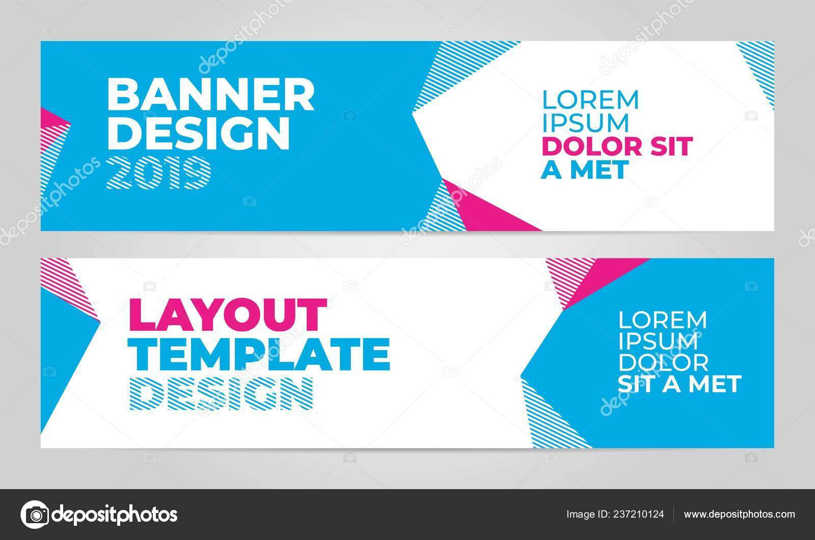 Layout Banner Template Design For Winter Sport Event 2019 Intended For Event Banner Template
