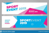 Layout Banner Template Design For Winter Sport Event 2019 within Sports Banner Templates