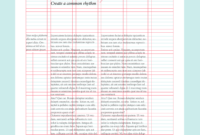 Layout Design: Types Of Grids For Creating Professional Intended For 3 Column Word Template
