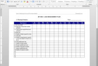Lead Management Plan Template | Mt1050-1 pertaining to Sales Lead Report Template