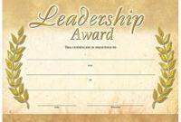 Leadership Award Gold Foil Stamped Certificates Throughout Leadership Award Certificate Template