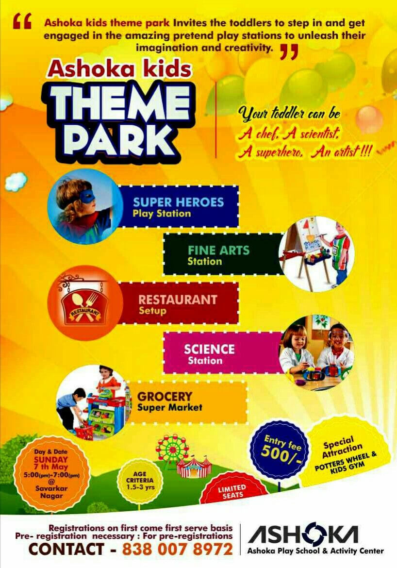 Leaflet Design For Play School Theme Parkgraphic with Play School Brochure Templates