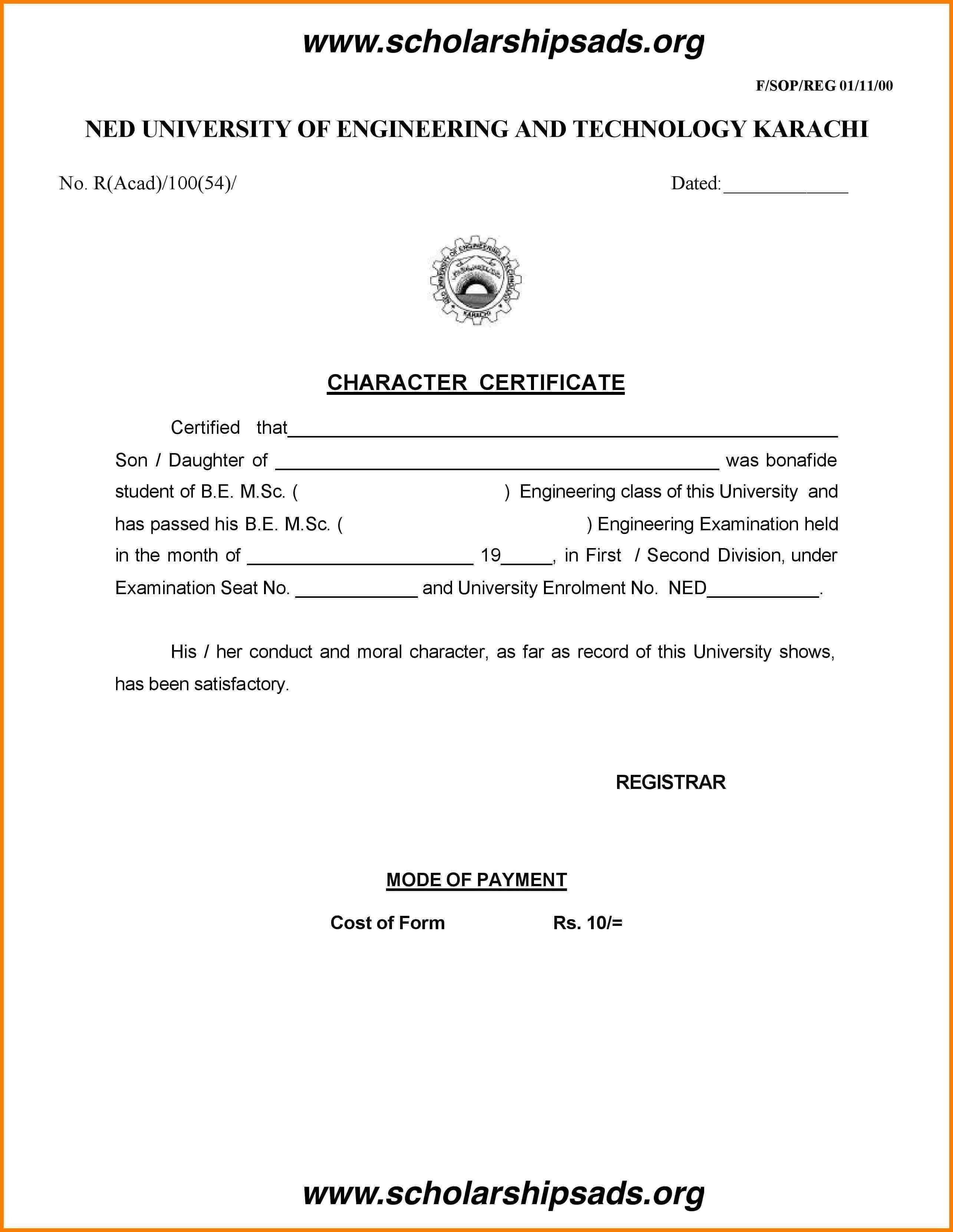 Letter Of Good Conduct Template Collection   Letter Template In Good Conduct Certificate Template