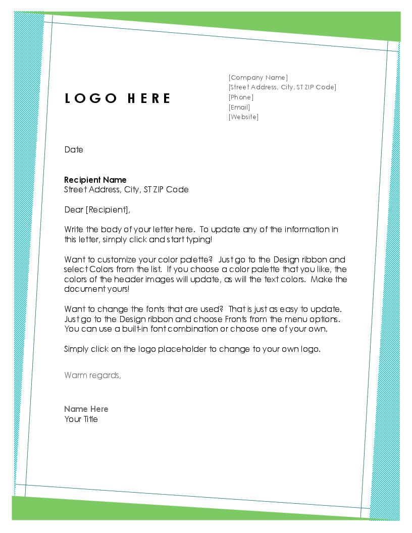 Letters - Office Within Headed Letter Template Word for Headed Letter Template Word
