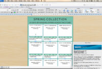 Line Sheet – Id17 in Word Catalogue Template