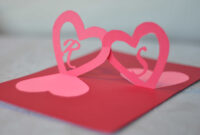 Linked Hearts Pop Up Card Template for Pop Out Heart Card Template