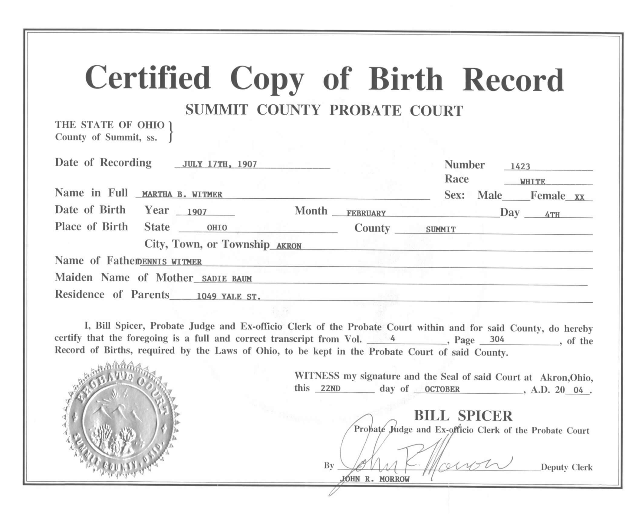 Live Birth Certificate Debt Loan Payoff Of Template in Official Birth Certificate Template