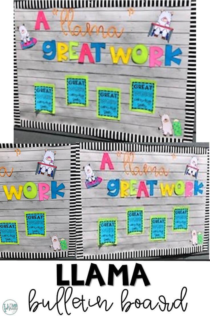 Llama Bulletin Board   Classroom, Classroom Themes, Bulletin intended for Bulletin Board Template Word