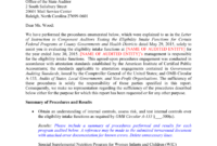 Local Eligibility Agreed-Upon Procedures Report Template 2015 with Agreed Upon Procedures Report Template