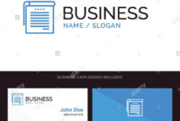 Logo And Business Card Template For Student, Notes, Books with Student Business Card Template