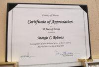 Longevity Years Of Service Certificate Award Avenue (10 pertaining to Certificate For Years Of Service Template