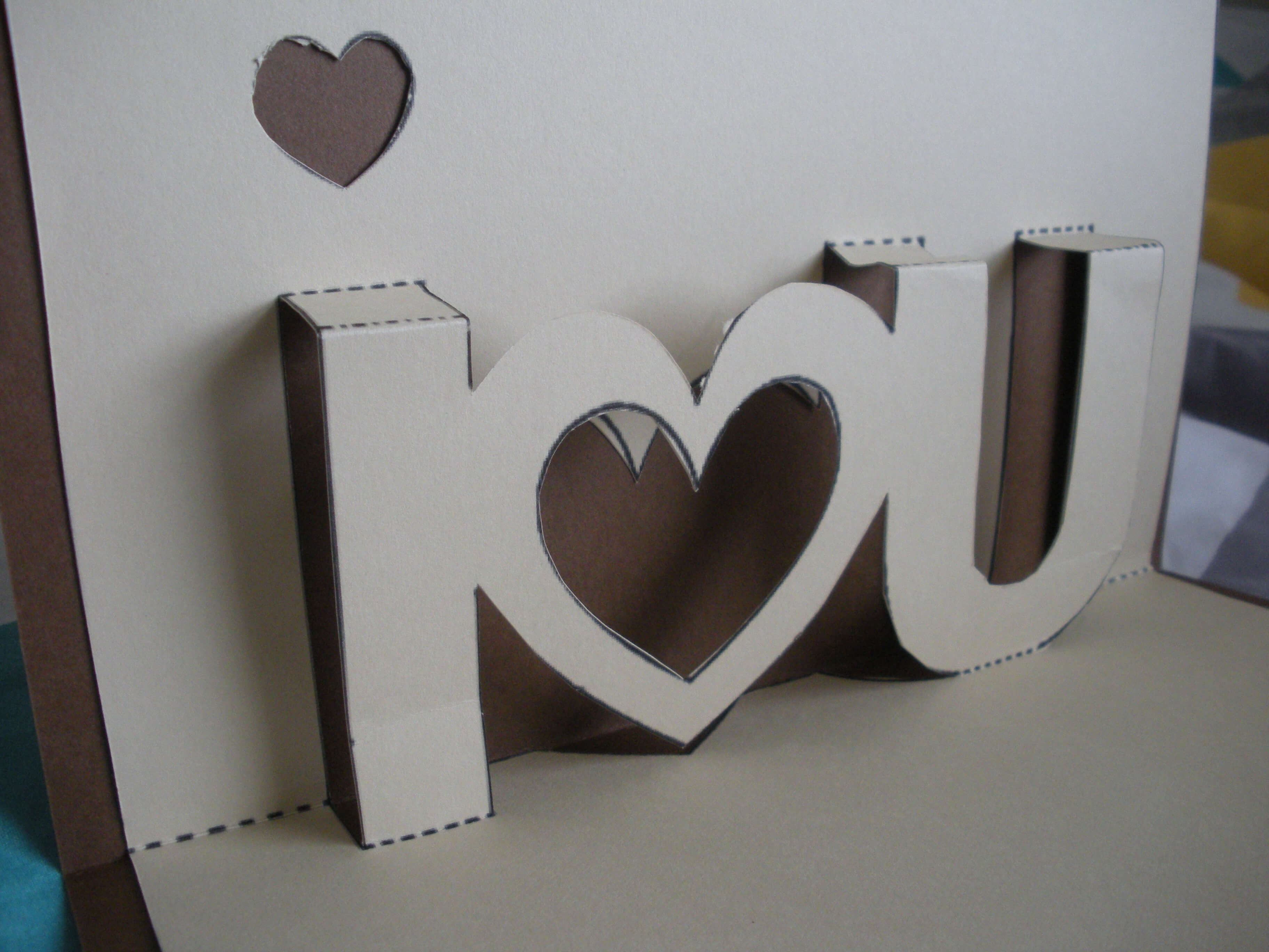 Love Card | Twenty One For I Love You Pop Up Card Template