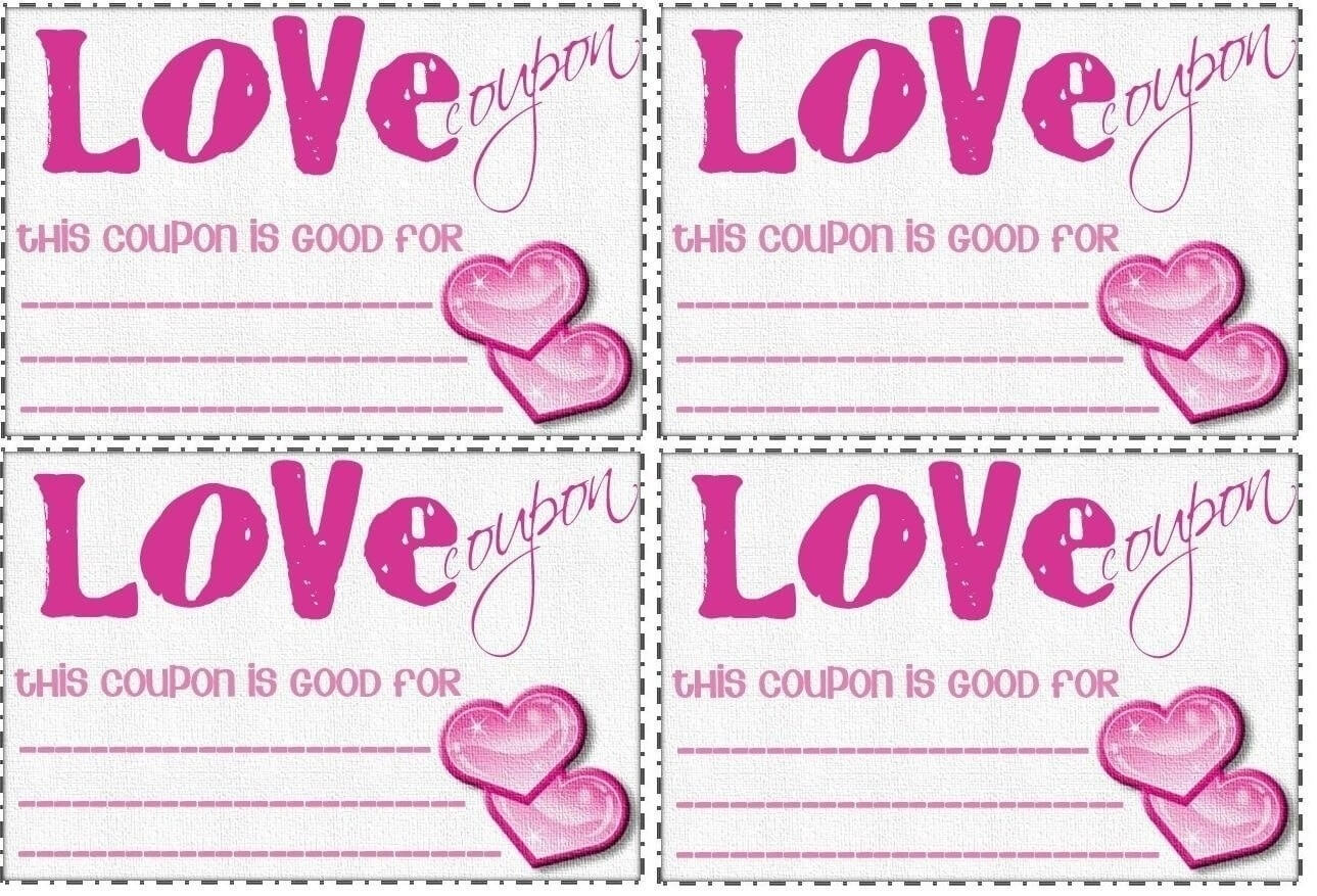 Love Coupon Template Microsoft Word | Examples And Forms with Love Coupon Template For Word