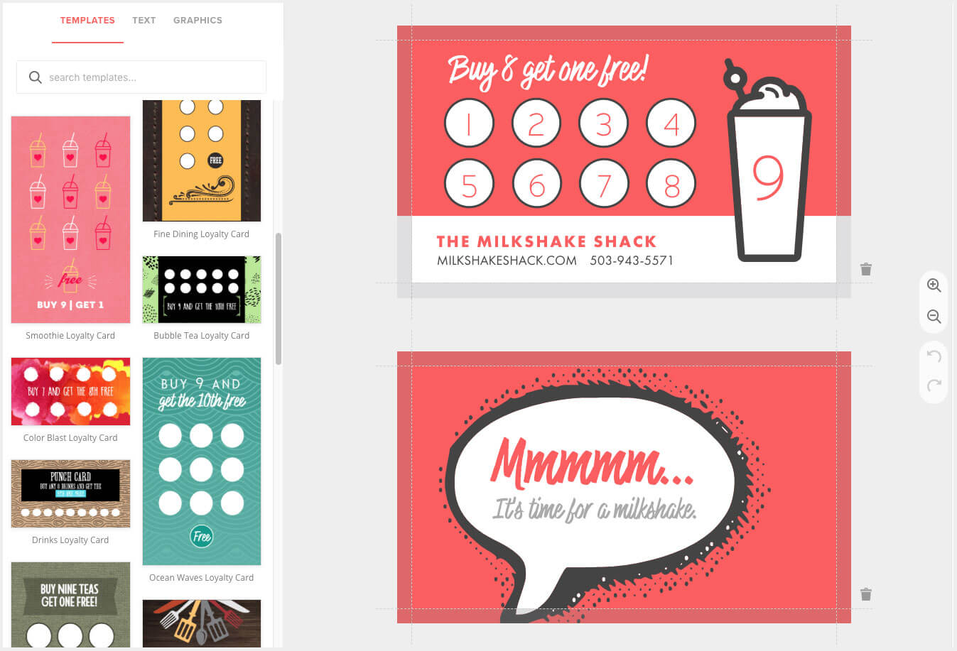 Loyalty Card Maker, Custom Punch Cards - Musthavemenus intended for Reward Punch Card Template