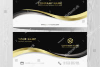 Luxury And Elegant Black Gold Business Cards Template On pertaining to Advertising Cards Templates