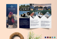 Luxury Brochure Tri-Fold Template throughout Tri Fold Brochure Publisher Template