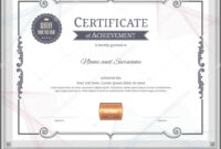 Luxury Certificate Template With Elegant Border Frame in Commemorative Certificate Template