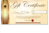 Luxury Gift Certificate Template with regard to Gift Certificate Log Template