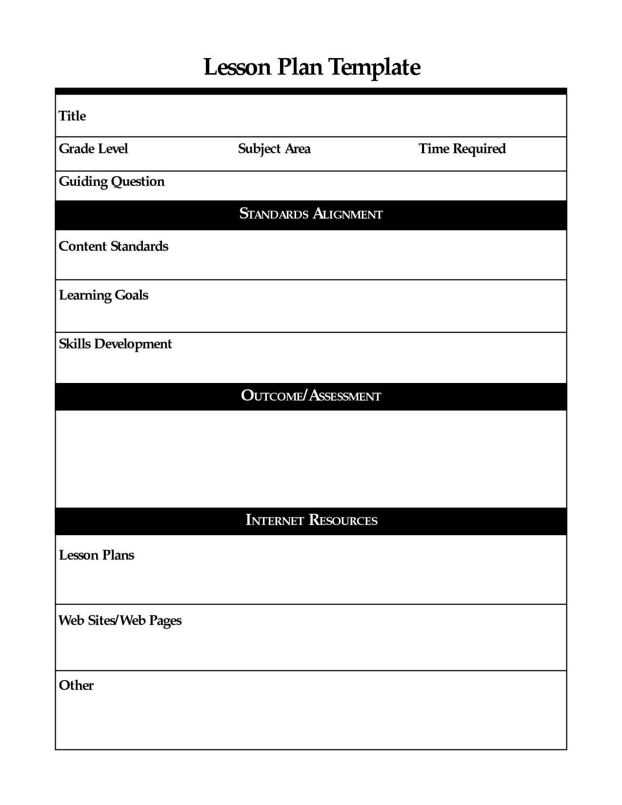 Madeline Hunter Lesson Plan Template Letter Sample Example with Madeline Hunter Lesson Plan Template Blank