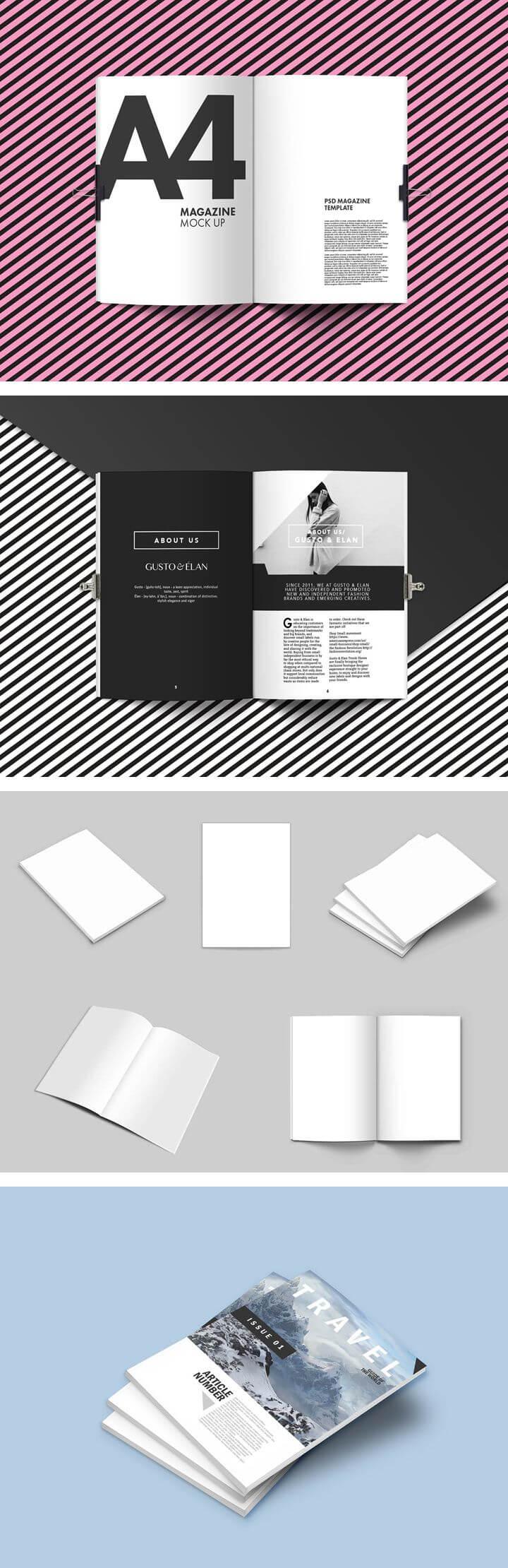 Magazine Mockups | Free: Design Elements regarding Blank Magazine Template Psd