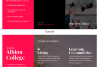 Magenta College Tri Fold Brochure Template Template – Venngage in Tri Fold School Brochure Template