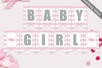 Magnificent Baby Shower Banner Template Ideas Free Onesie in Diy Baby Shower Banner Template