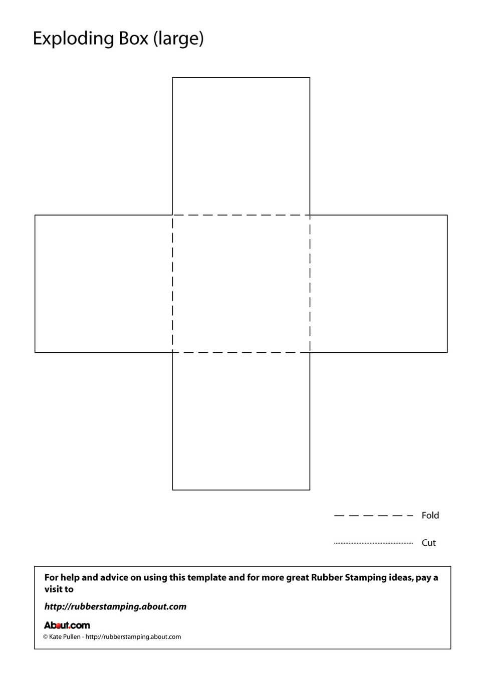 Make An Exploding Box With This Free Printable Template with regard to Card Box Template Generator