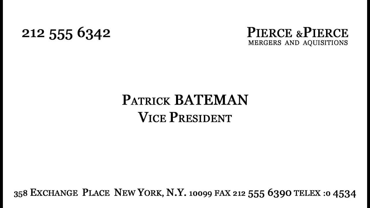 Make Patrick Bateman's Business Card - Youtube For Paul Allen Business Card Template