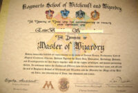 Make Your Own Harry Potter Hogwarts Diploma, Acceptance Regarding Harry Potter Certificate Template