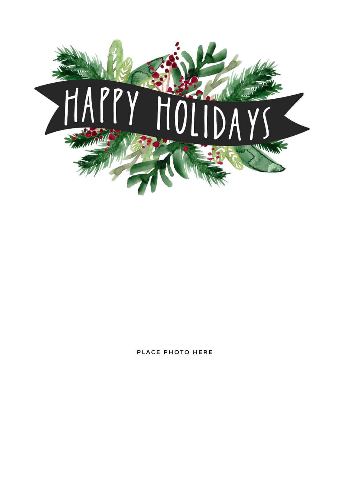 Make Your Own Photo Christmas Cards (For Free!) - Somewhat for Happy Holidays Card Template
