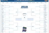 March Madness 2019 Bracket Template (Free Printable Pdf) inside Blank Ncaa Bracket Template