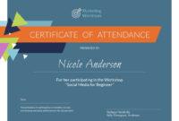 Marketing Workshop – Certificate Template – Visme throughout Workshop Certificate Template