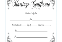 Marriage Certificate – Fill Online, Printable, Fillable pertaining to Blank Marriage Certificate Template