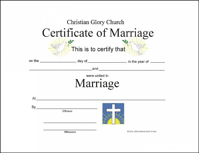 Marriage Certificate Template – Certificate Templates pertaining to Certificate Of Marriage Template