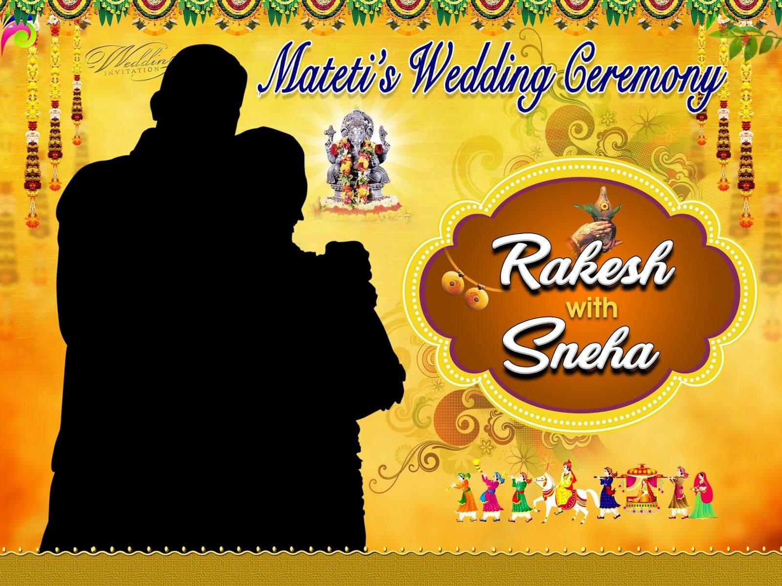 Marriage Flex Banner Design Psd Template Free Download Inside Wedding Banner Design Templates