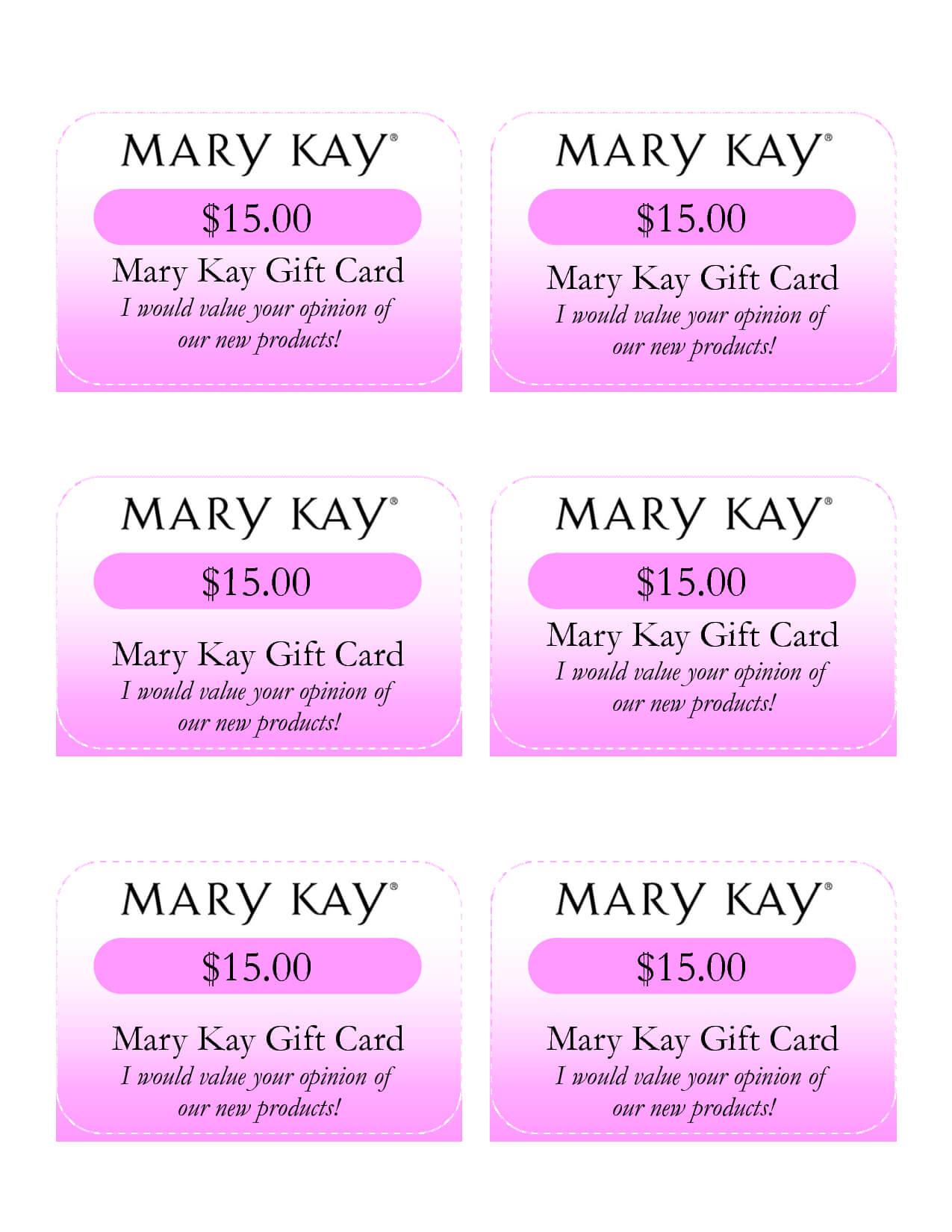 Mary Kay Birthday Certificates | Mary Kay Gift Card I Would in Mary Kay Gift Certificate Template