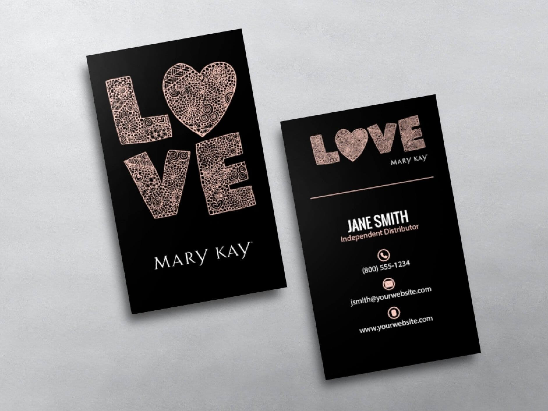 Mary Kay Business Cards | Business Card Templates In 2019 intended for Mary Kay Business Cards Templates Free
