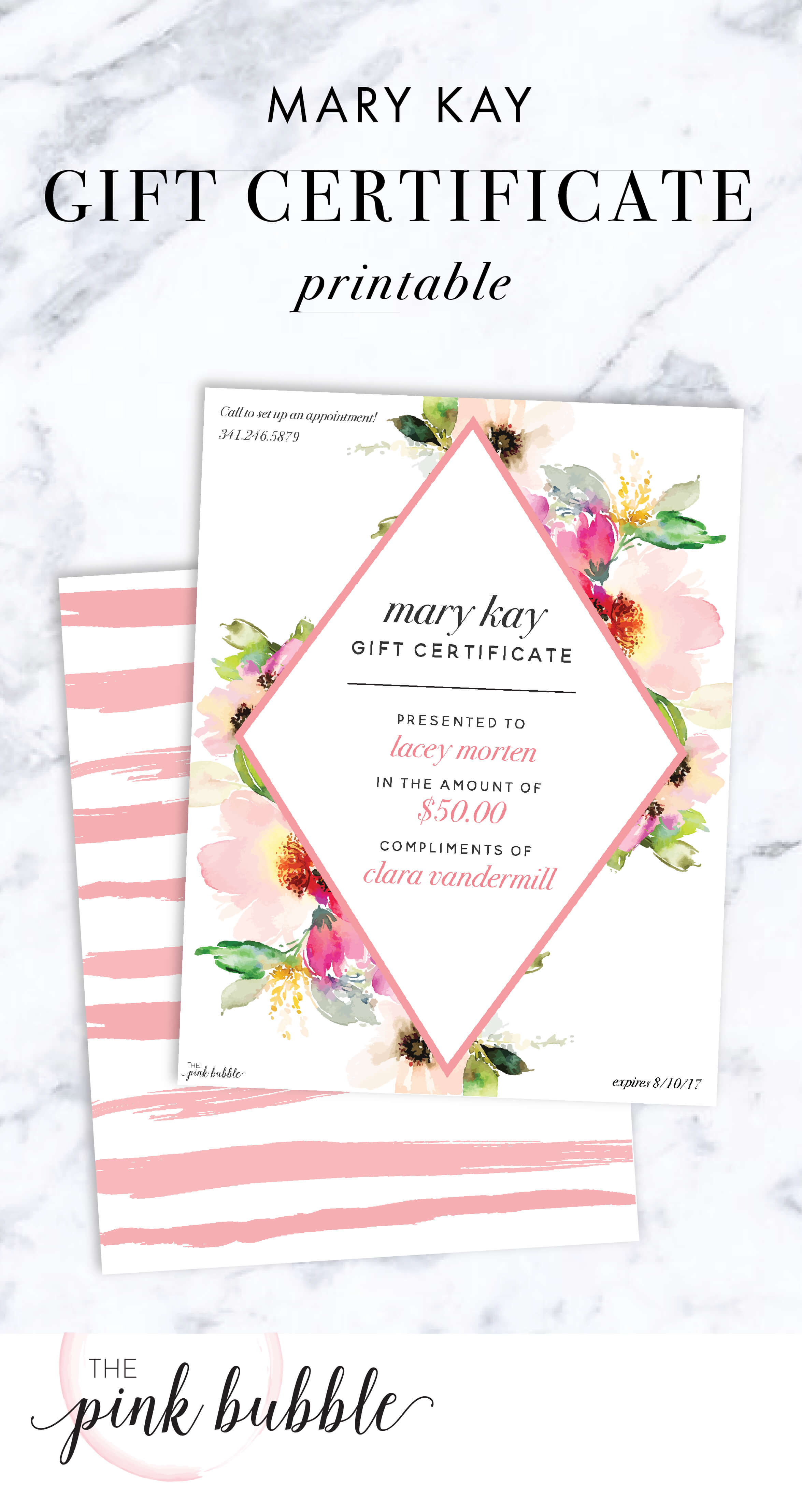 Mary Kay Gift Certificate! Find It Only At Www.thepinkbubble for Mary Kay Gift Certificate Template