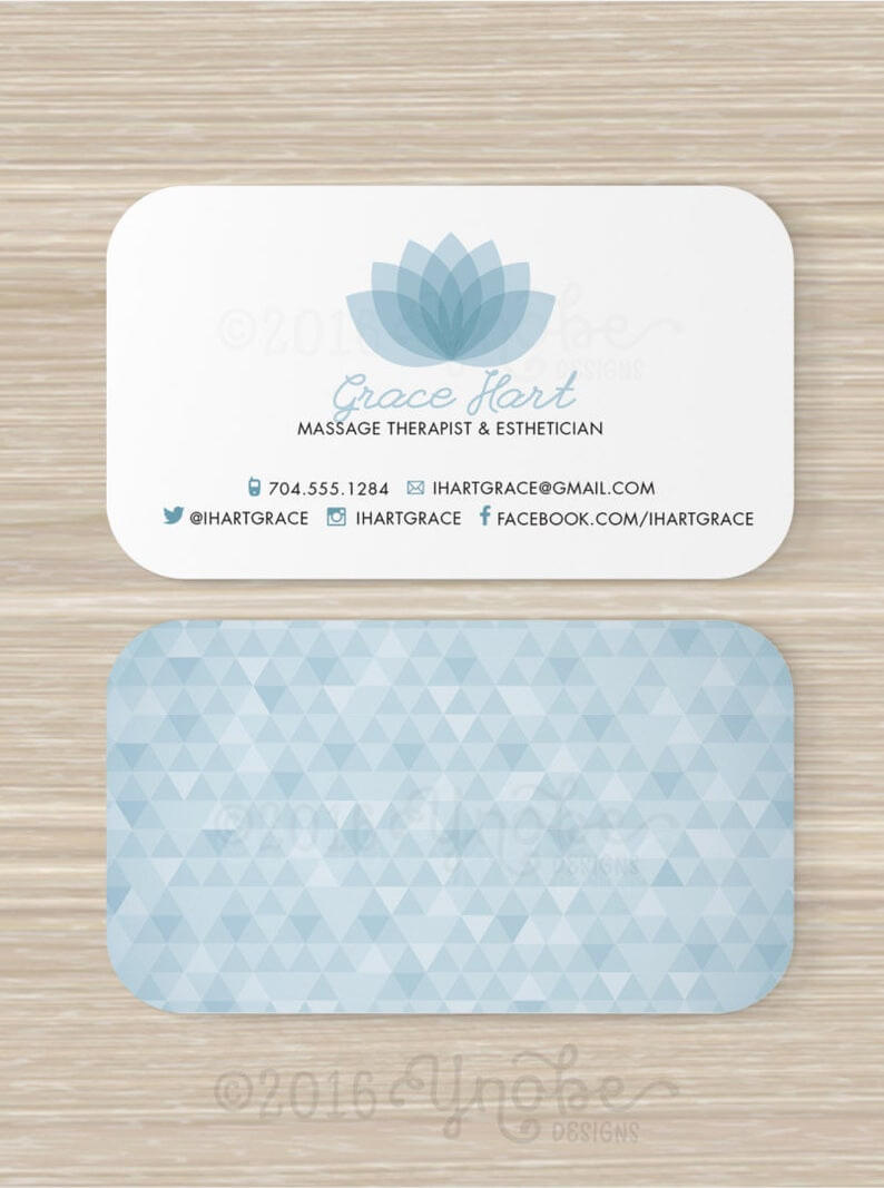 Massage Therapy Business Cards Examples Templates Free Card intended for Massage Therapy Business Card Templates