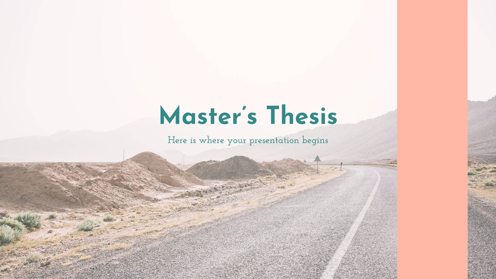 Master's Thesis - Free Presentation Template For Google throughout Powerpoint Templates For Thesis Defense