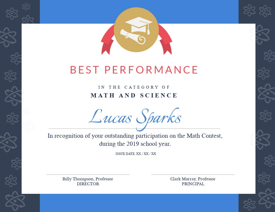 Math Contest - Certificate Template - Visme With Regard To Math Certificate Template