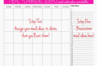 Meal Plan For Two Weeks And Only Grocery Shop Once | It's My inside Meal Plan Template Word