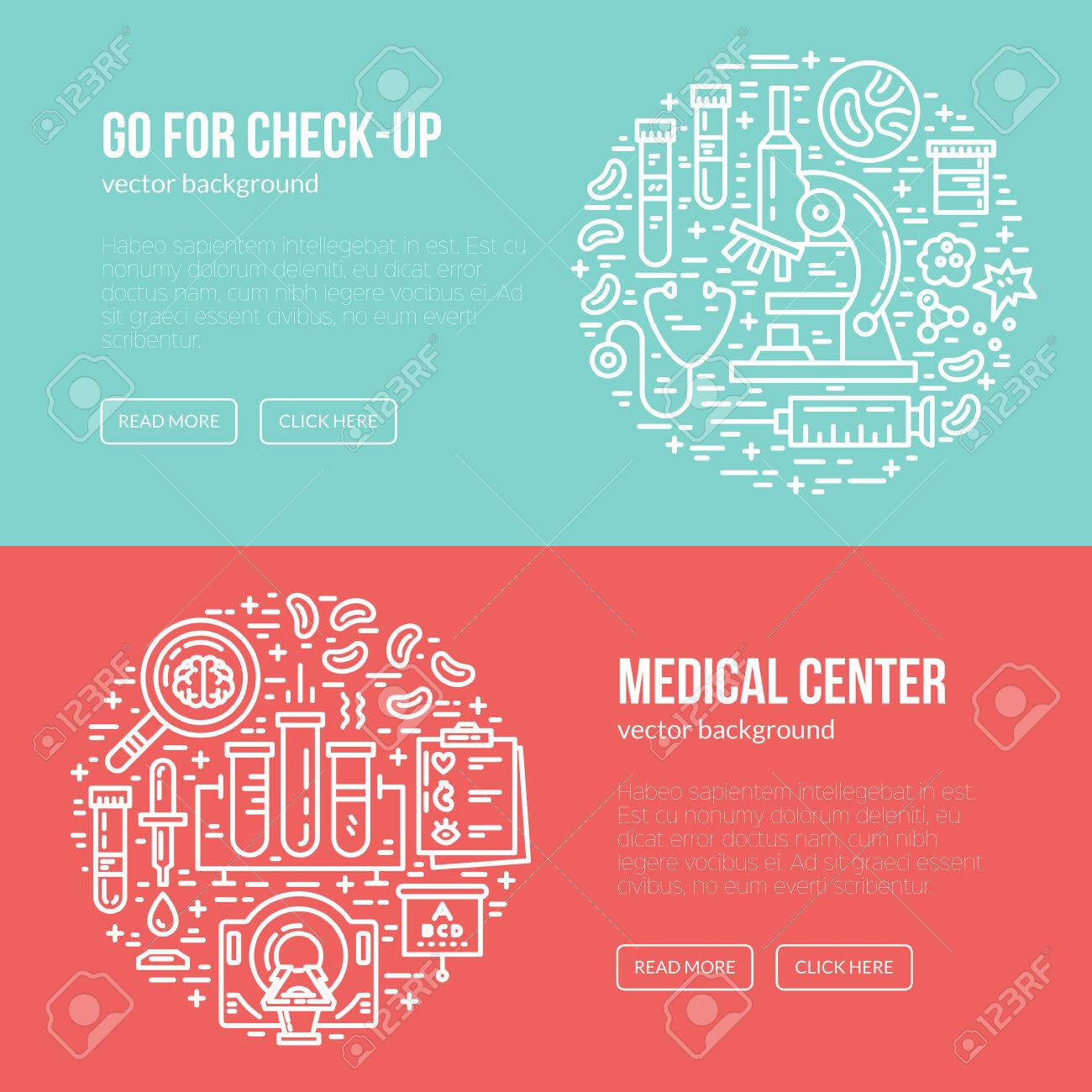 Medical Banner Design Template With Different Research Symbols.. regarding Medical Banner Template