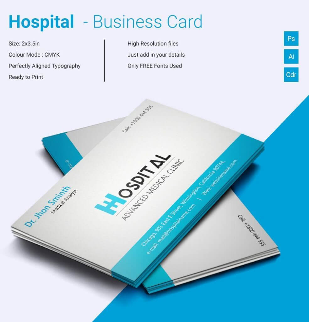 Medical Business Cards Templates Free Download Make Your Within Medical Business Cards Templates Free